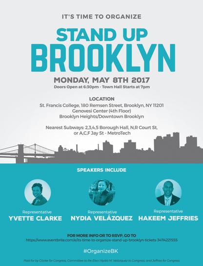 Stand Up Brooklyn Town Hall Annoucned My Cms